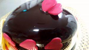 tarta de chocolate para san valentín