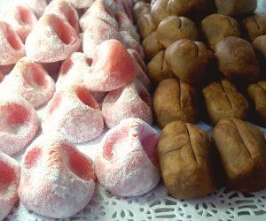 mazapanes de fresa y mazapanes de café en Murcia